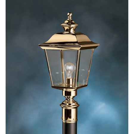 Kichler Bay Shore 9913PB Outdoor Post Lantern - 9.5 in. - Polished