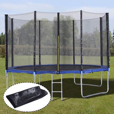 Ktaxon Outdoor 12ft Round Trampolines with Safety Enclosure Net and Spring Pad
