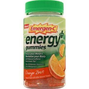 - Emergen-C Energy Plus Gummies Orange Zest