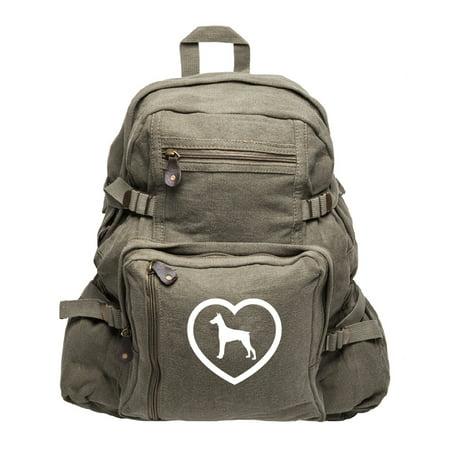 Doberman Heavyweight Canvas Backpack Bag (Best 35 Liter Backpack)