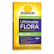 Renew Life - Ultimate Flora Probiotic Saccharomyces Boulardii - 6 Billion - 20 vegetable capsules
