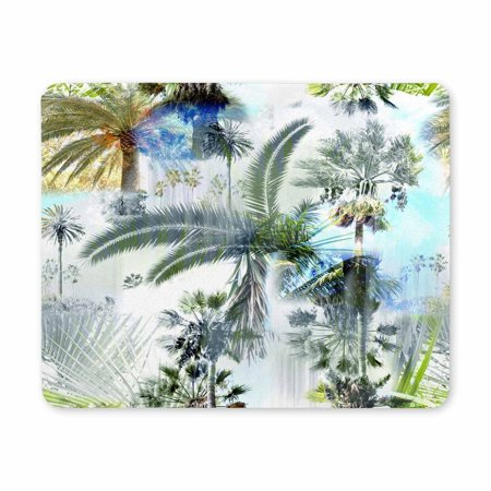 POP Palm Trees Clip Art Photo Gaming Mouse Pad Durable Office Accessory Rubber Mousepad Mat 9x10 inch - image 2 of 2