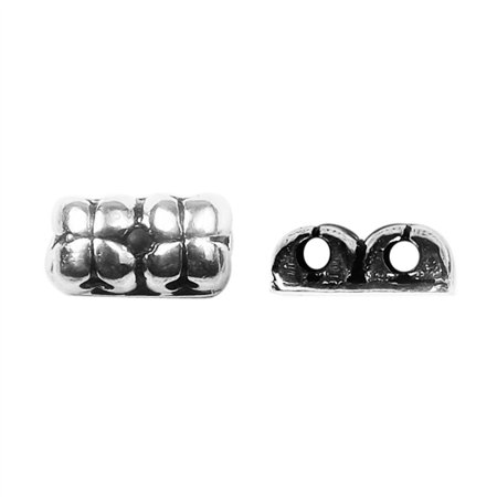 CSF-468 Silver Overlay Multi Strand With flower design Spacer bar With 2 -