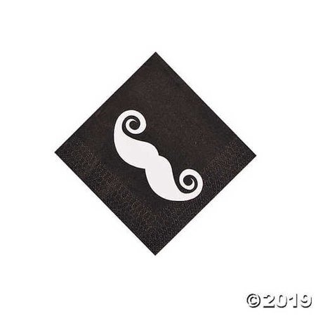 Mustache Party Beverage Napkins 16 Piece(s)](Mustache Part)