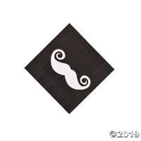 Mustache Party Beverage Napkins 16 Piece(s)
