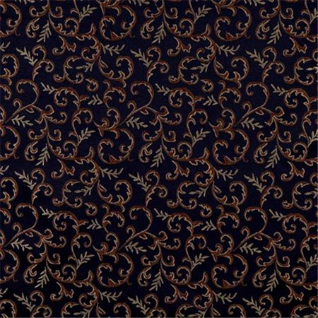 Designer Fabrics E640 54 in. Wide Abstract Floral Navy Blue, Yellow And Green Damask Upholstery And Window Treatment (Floral Damask Upholstery Fabric)