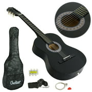 ZENY BLACK Beginners Acoustic Guitar With Guitar Case, Strap, Tuner and Pick