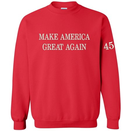 - Make America Great Again Crewneck Sweatshirt Embroidered Red