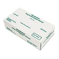 Memphis MPG5010L Disposable Vinyl Gloves Large 5 mil Medical Grade 100 Count