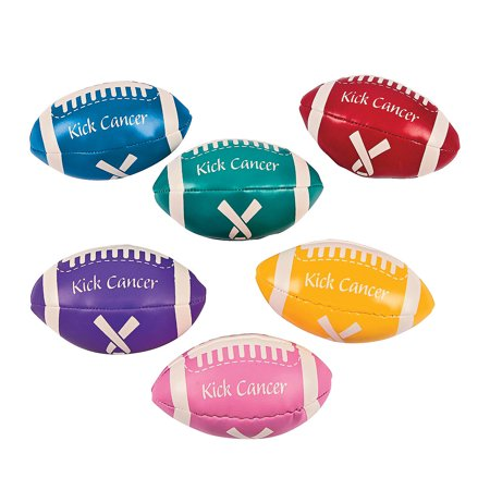 Fun Express - Kick Cancer Vinyl Football - Toys - Balls - Kick Balls - 12 - Pink Footballs