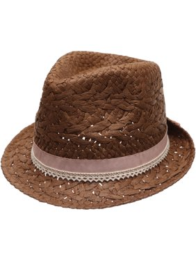 Product Image MIRMARU Women s Summer Trilby Short Brim Sun Straw Fedora Hat  Cap with Bow Band bb6b3e120bd6