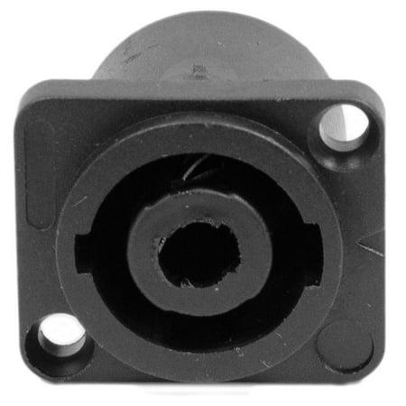 Neutrik Speakon Panel Mount - Seismic Audio  4 Pole Speakon Panel Mount Connector - Fits D Series Pattern Hole Black - SAPT240
