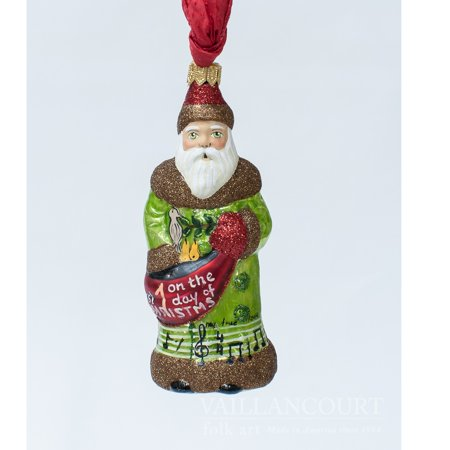 Vaillancourt Folk Art 1st Day of Christmas Partridge Pear Tree Polish Ornament 12 Days Partridge Ornament