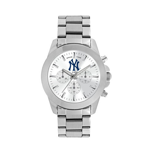 Gametime Women's Game Time Knockout Series MLB New York Yankees Pinstripe (One Size), stainless steel