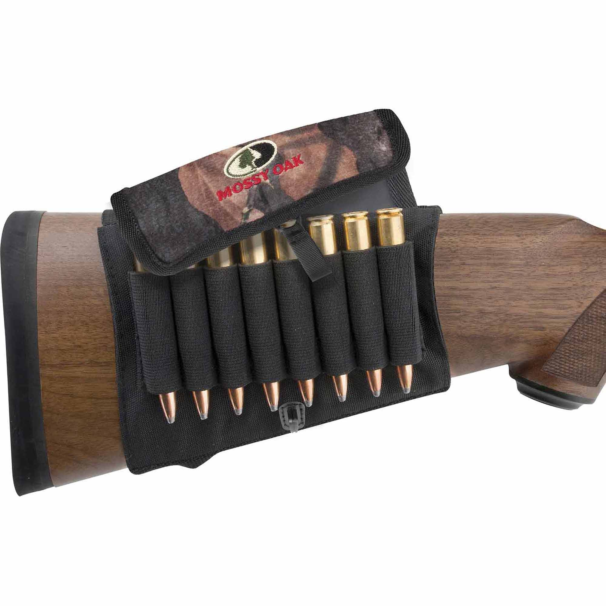 Mossy Oak Buttstock Rifle Shell Holder with Cover