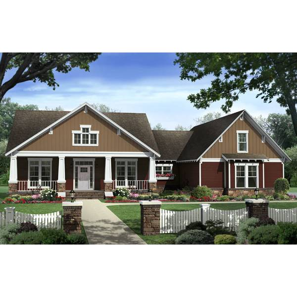 TheHouseDesigners-8561 Country House Plan with Basement Foundation (5 Printed Sets)