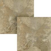 NEXUS Light Slate Marble 12x12 Self Adhesive Vinyl Floor Tile - 20 Tiles/20 Sq.Ft., 2 pack