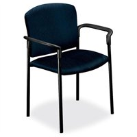"Hon Pagoda 4070 Series 4071 Stacking Chair Polyester Mariner Seat, Acrylic Back Metal Black Frame 27.3"" X... by The Hon"