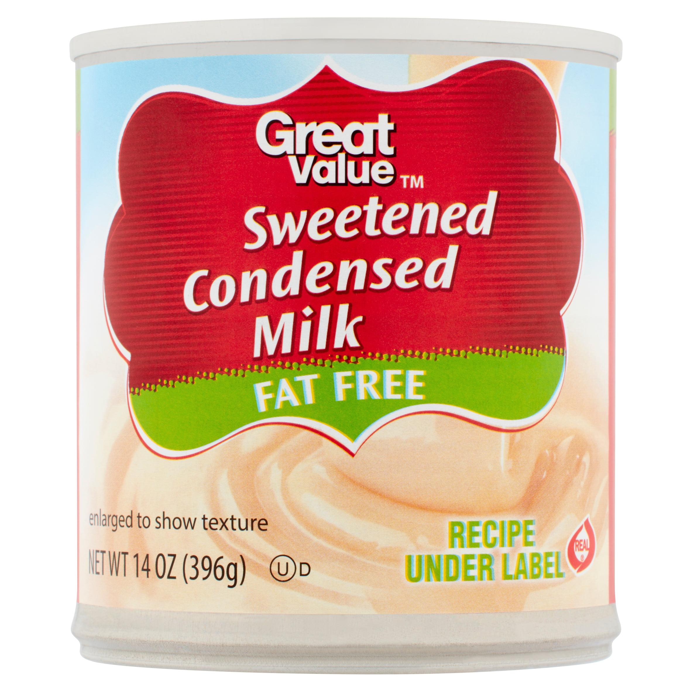 Great Value Fat Free Sweetened Condensed Milk 14 oz Walmart