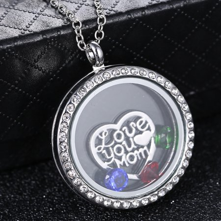 Floating Charm Necklaces (Living Memory Floating Crystal Charms