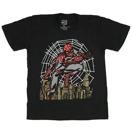 Marvel Comics Little Boys' Spider-Man Night Vision T-Shirt