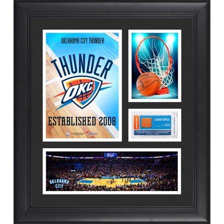 Oklahoma City Thunder Team Logo Framed 15
