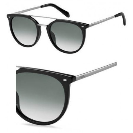 836bd20f55 Fossil - Sunglasses Fossil Fos 3077  S 0807 Black   9O dark gray gradient  lens - Walmart.com