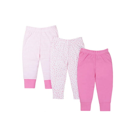 Knits Pants, 3-pack (Baby Girls) Little Monster Pant