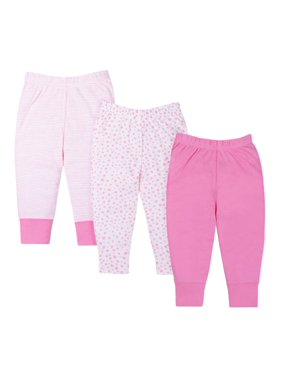 76181c8135f54 Product Image Knits Pants, 3-pack (Baby Girls)