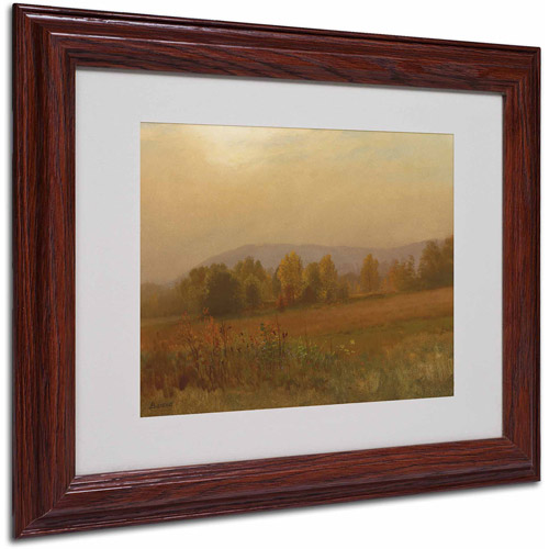 "Trademark Fine Art ""Autumn Landscape"" Canvas Art by Albert Bierstadt, Wood Frame"