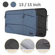 15 13 Inch Laptop Sleeve Case Bag, Slim Lightweight Laptop Computer Notebook Ultrabooks Carrying Case Handbag Cover for Men Women Fit for Acer Asus Dell Lenovo HP Toshiba ect - Black, Blue
