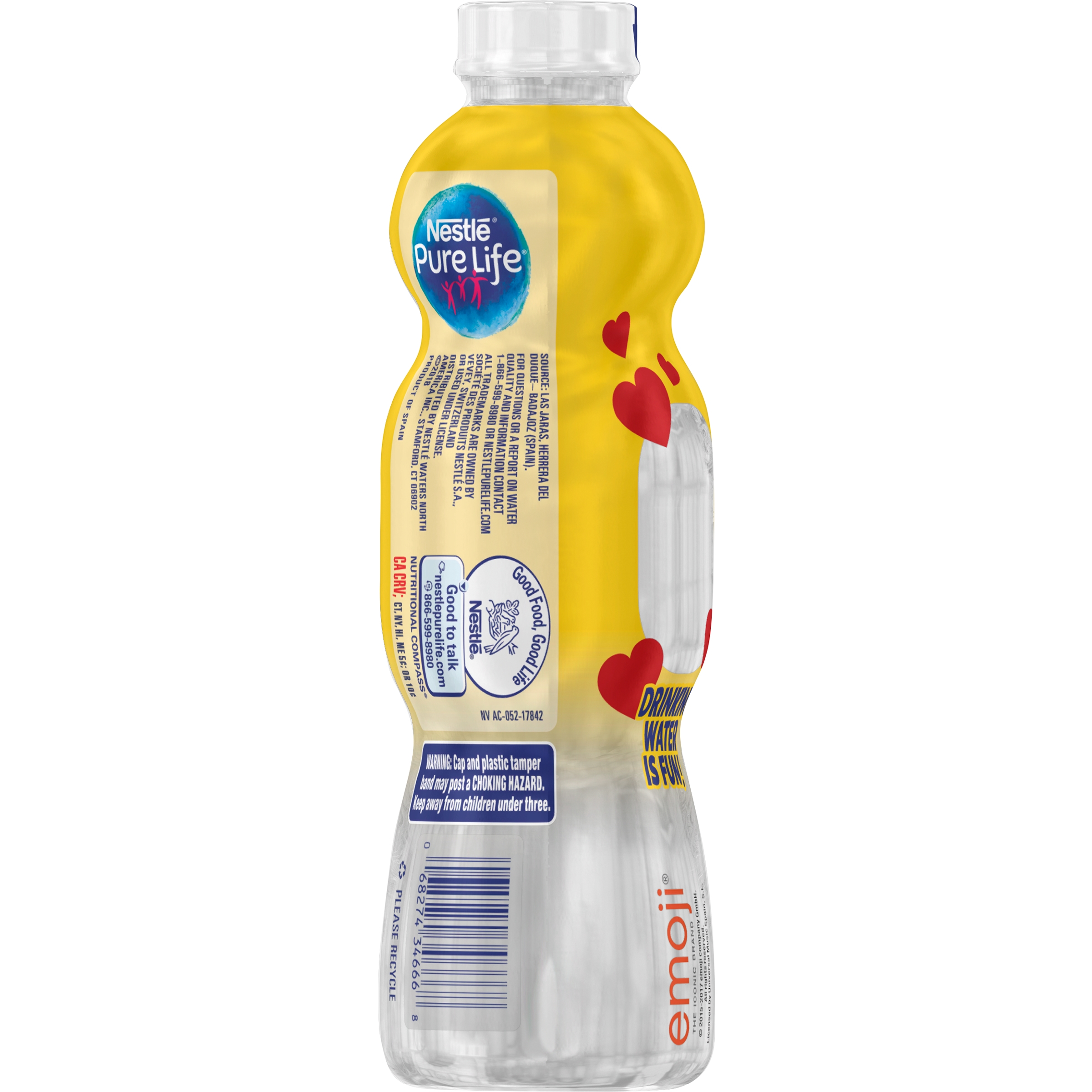 NESTLÉ Pure Life Emoji Drinking Water 11 2 fl  oz  Bottle - Walmart com