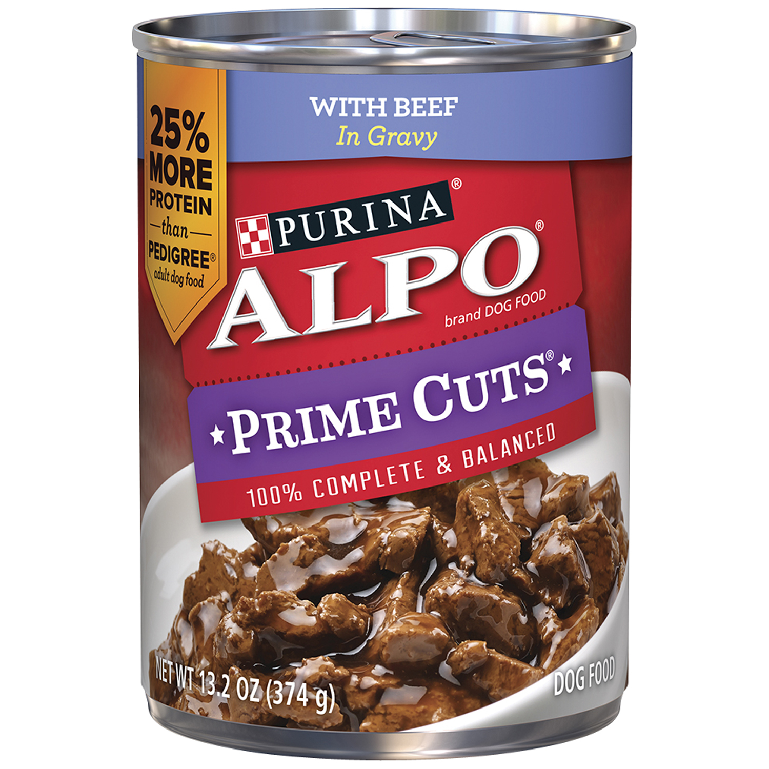Purina ALPO Prime Cuts with Beef Canned Dog Food, 13.2 Oz