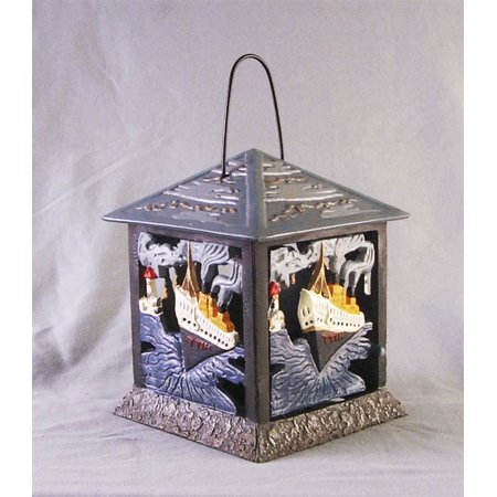 Cast Iron Tealight Candle Holder with Titanic Motif