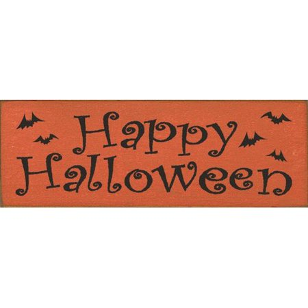 Sawdust City Happy Halloween Textual Art Plaque