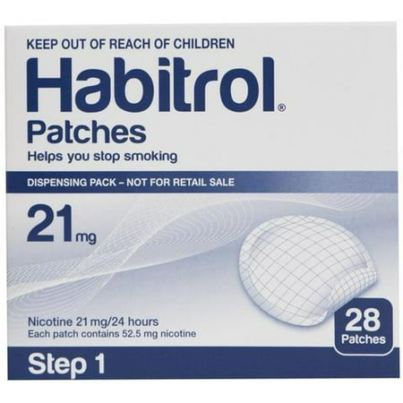 STEP 1 (28 Count) Habitrol Transdermal Nicotine Patches, 21mg, 24hr Stop Smoking Aid