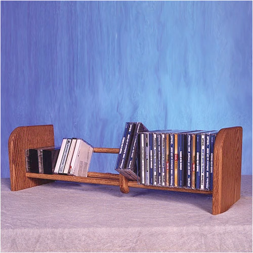 Wood Shed 100 Series 55 CD Multimedia Tabletop Storage Rack