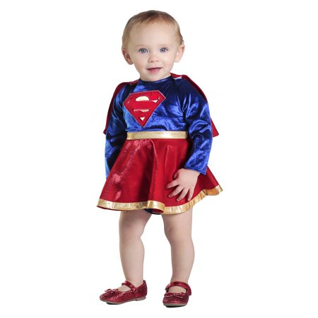 Supergirl Dress and Diaper Cover Baby Infant Costume - Baby 6-12