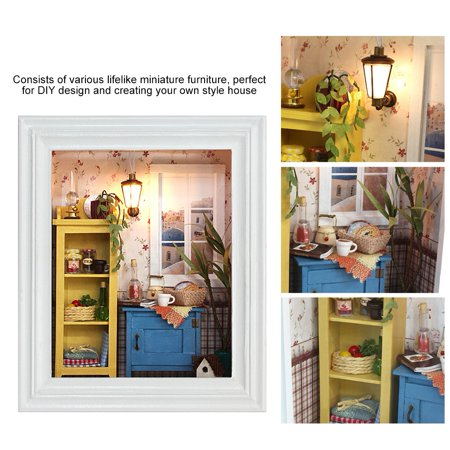 Ejoyous House Toy Kit, DIY House Kit,DIY Dollhouse Photo Frame Design Warm House Kit with Furniture Birthday Gifts Home Decoration - image 3 of 8
