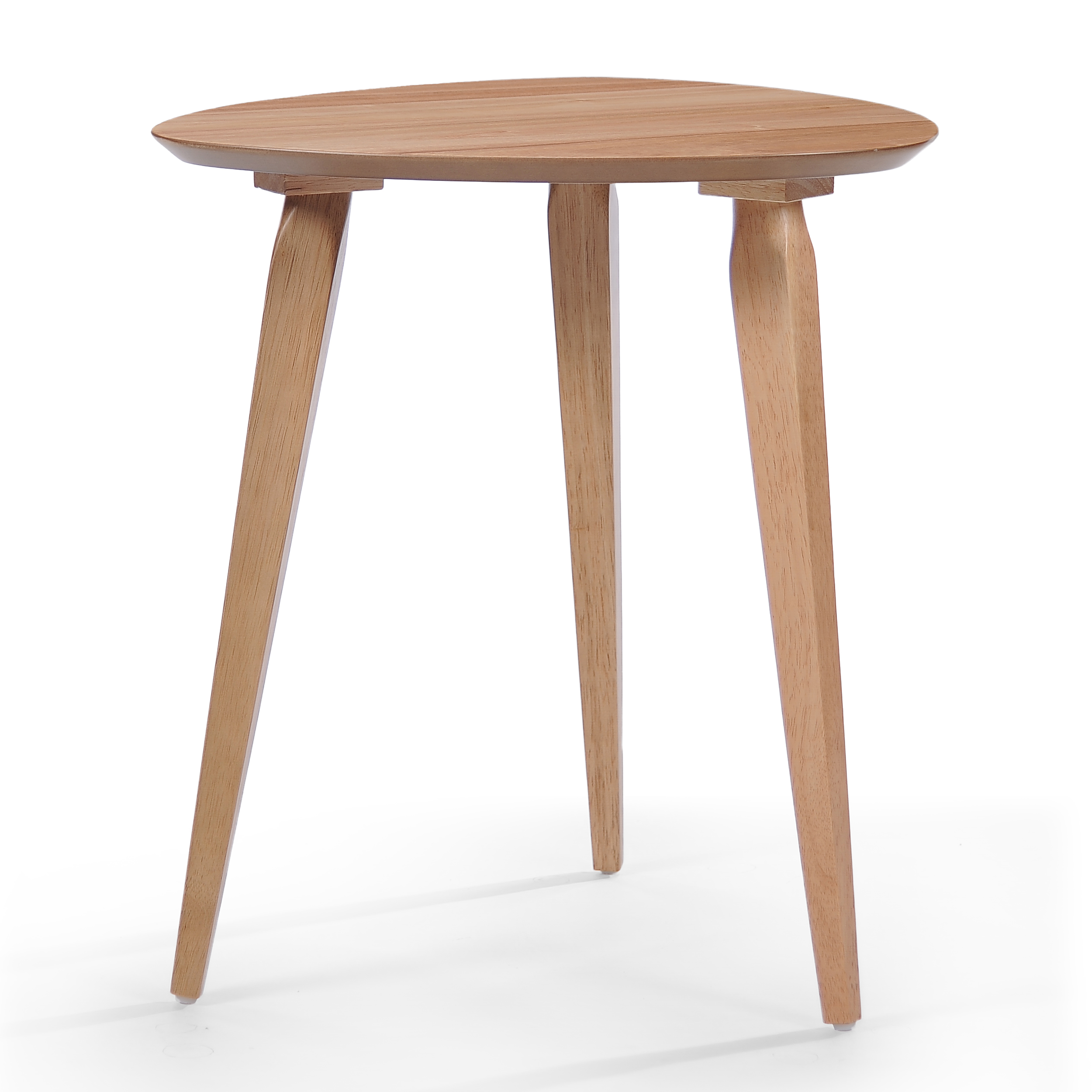 Finnian Wood End Table, Natural Finish