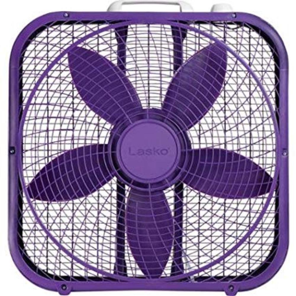 "Lasko Cool Colors 20"" Box Fan Durable Metal Frame Purple By Lasko Cool Colors 20 Box Fan Durable Metal Frame Purple"