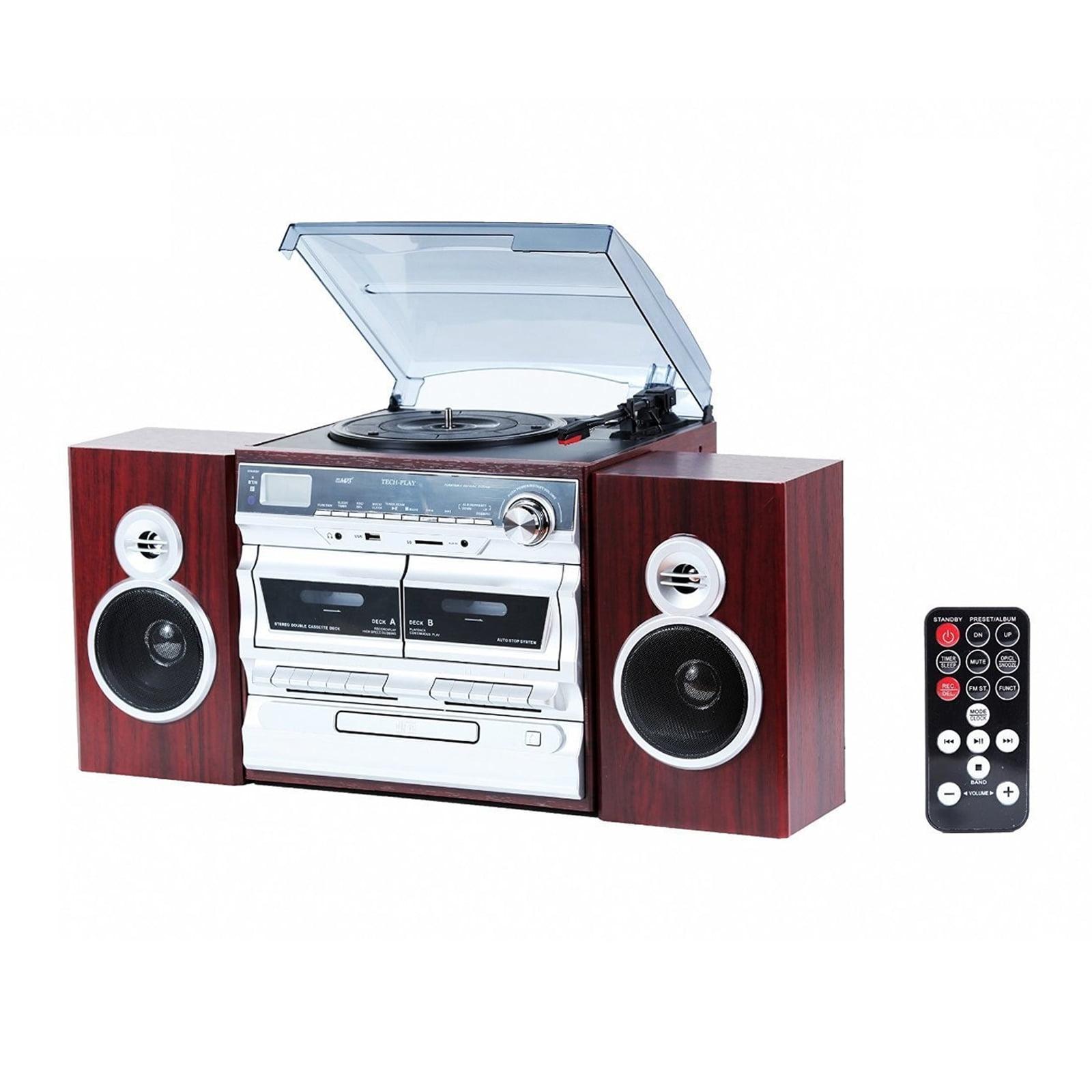 TechPlach High Power 30W, 3-Speed Turntable with Karaoke
