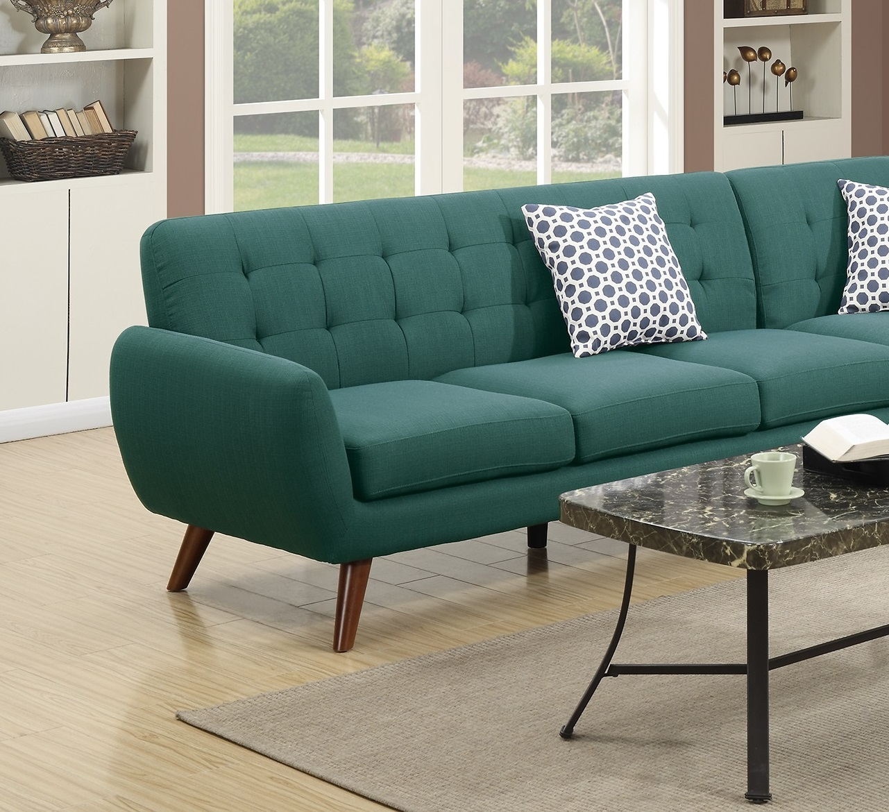 2-Pcs Laguna Polyfiber Sectional Sofa