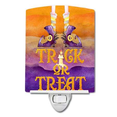 Halloween Trick Witches Feet Ceramic Night Light