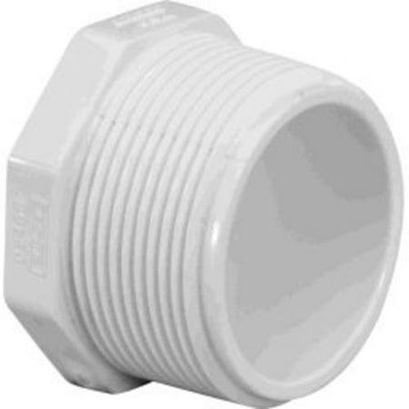 Charlotte Pipe & Found PVC 02113 0800 PVC Pipe Plug, White, 3/4