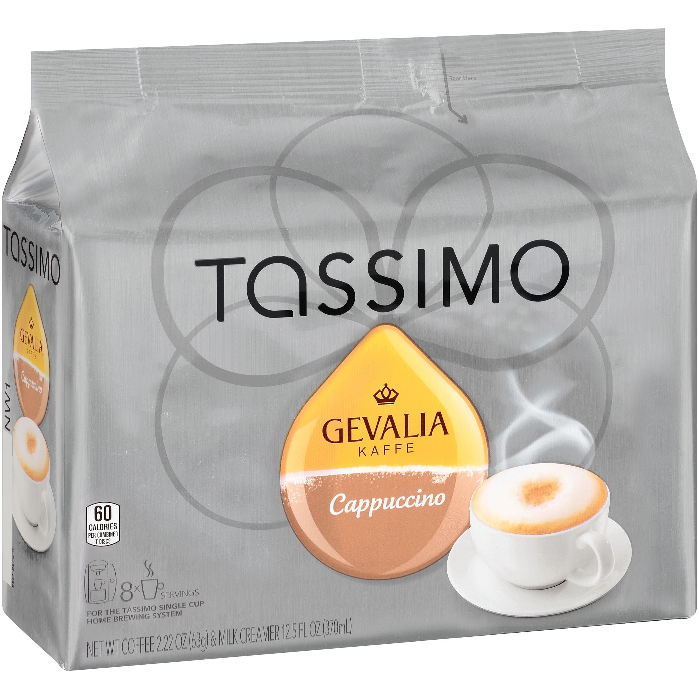 Tassimo Gevalia Cappuccino Coffee & Milk Creamer T Discs ...