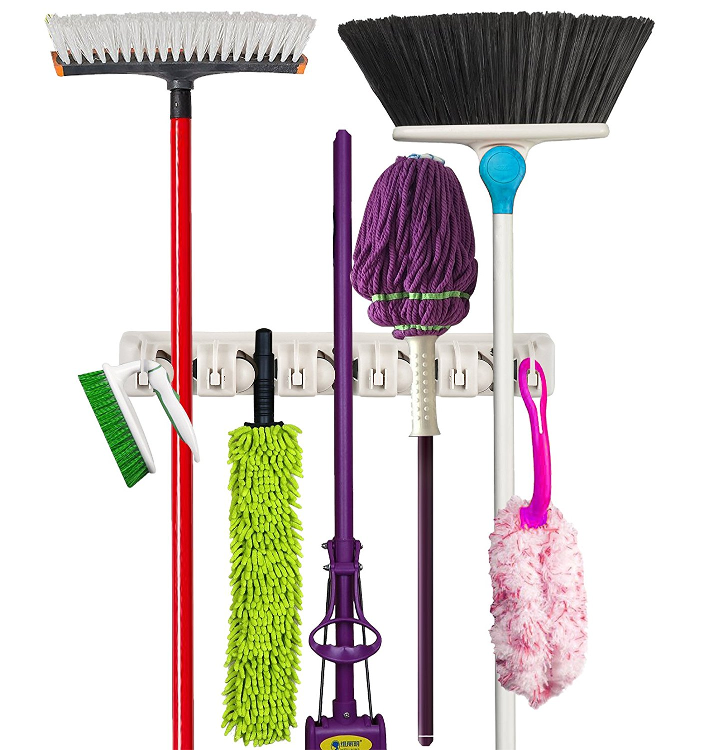 Mop And Broom Holder Wall Mounted Garden Tool Storage Tool Rack Storage U0026  Organization Home Plastic Great Pictures