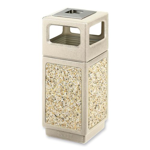 Safco Products Company Canmeleon Series Aggregate Panel Side Receptacle Trash Can
