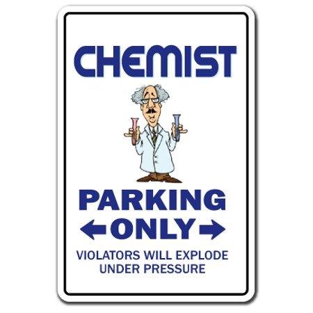 Engineering Decal (CHEMIST Decal Parking Decals engineering tool chemistry lab tech school | Indoor/Outdoor | 5