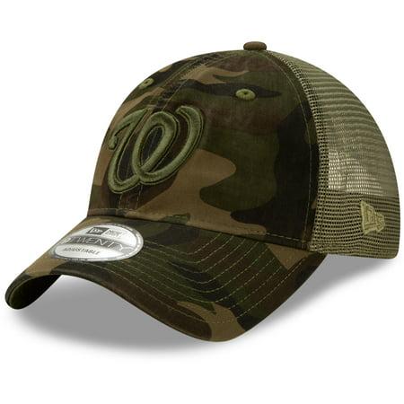 Washington Nationals New Era Tonal Logo Trucker 9TWENTY Adjustable Snapback Hat - Camo - OSFA